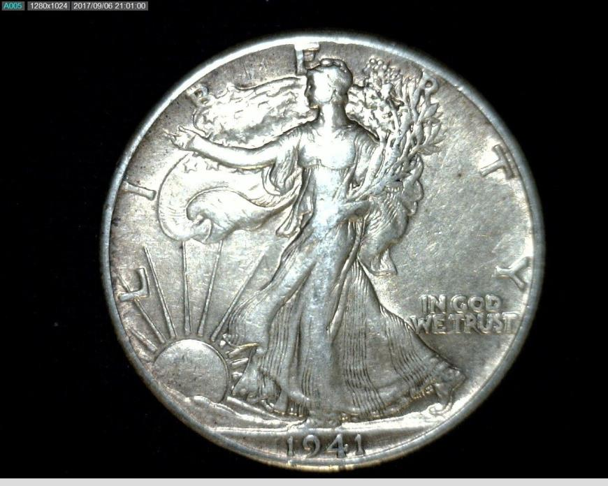 1941 Silver Walking Liberty Half Dollar #A267