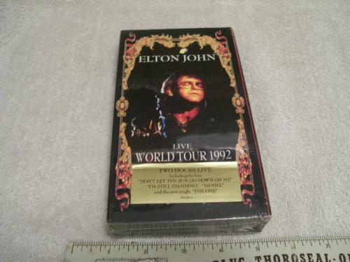 Original 1992 Elton John World Tour Live Barcelona VHS unopened