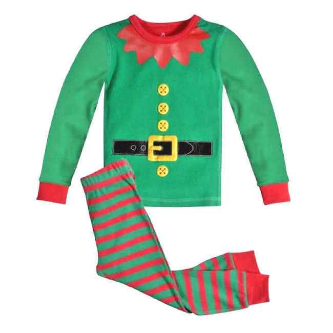 PETIT LEM Christmas ELF ON THE SHELF Holiday Pajama Set Size 12 Month NEW
