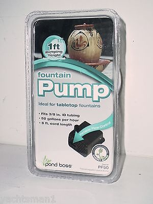 Tabletop Fountain Pump 50 Gallons per Hour