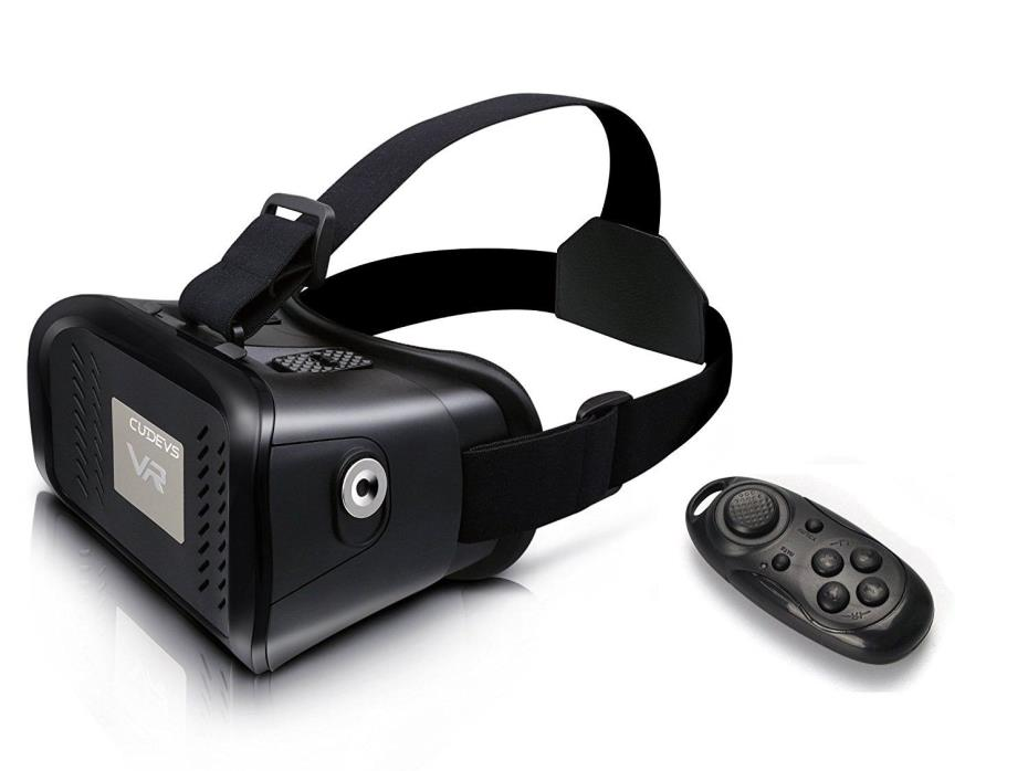 3D VR Glasses,VR Headset Virtual Reality with Bluetooth Remote Up to 6.0