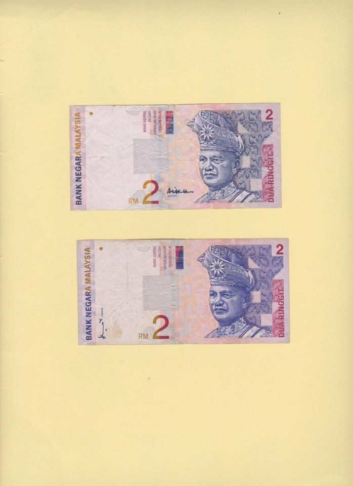 8 Malaysia Banknote Set One sale