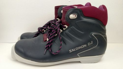 SALOMON 3.1 Men's Maroon SNS Profil Cross Country Ski Boots Skiing Snow Size 7