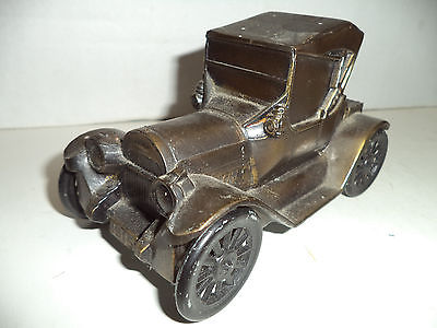 Vintage Cast Iron Coin Bank, Chevrolet 1915, EX Condition