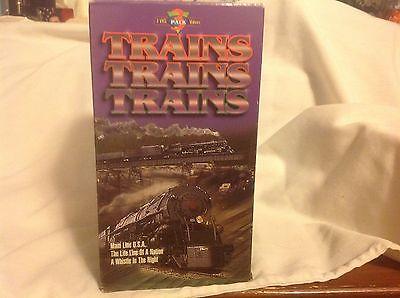 Trains,Trains,Trains 3pk VHS