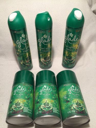 Glade Automatic Spray Air Freshener Refill, Tree Lighting Wonder, 6.2 Ounce Lot