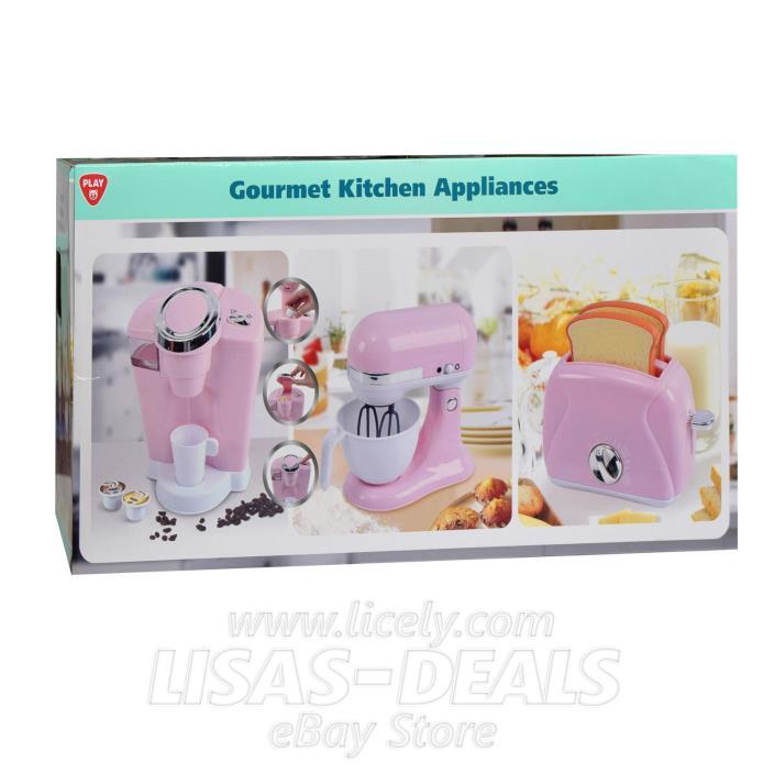 New! PLAYGO Pretend Play Gourmet Kitchen Appliance 3 PC Set PINK
