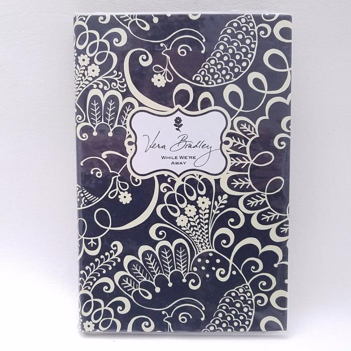 Vera Bradley NWT While We're Away Note Pad Book Twirly Birds Navy
