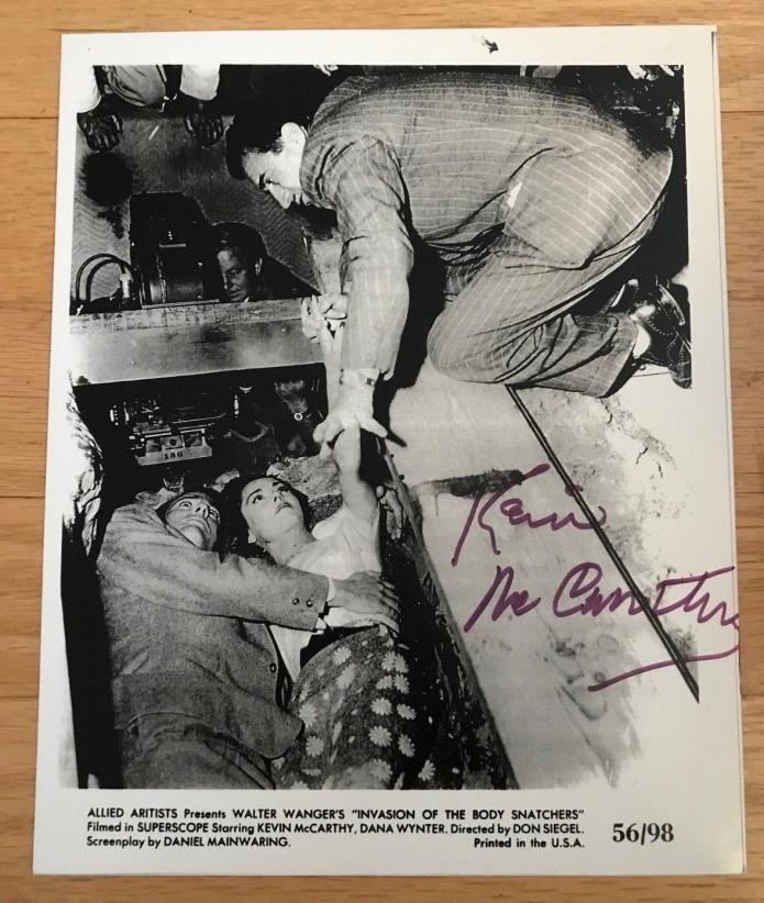 KEVIN MCCARTHY Signed Autographed 8x10 Invasion of the Body Snatchers Sci Fi