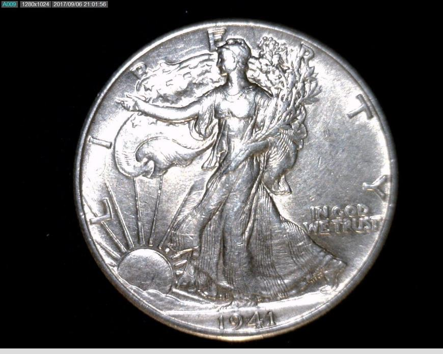 1941 Silver Walking Liberty Half Dollar #A268