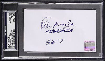 2014 Peter Mayhew Chewbacca Star Wars Signed Index Card (PSA/DNA Slabbed)