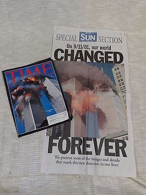 Sept 11th Twin Towers Attack New York City, Time Magazine Bremerton Sun Paper PC