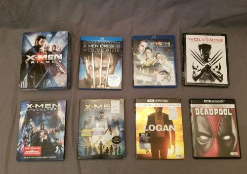 X-MEN Wolverine Deadpool Logan Blu Ray 3D 4K Lot