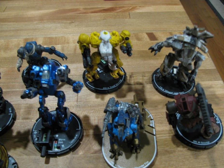 WizKid Mechwarrior Figure Lot of 13 2005