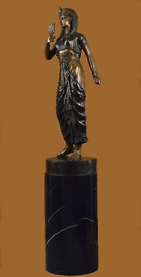 250 Lbs Huge Cleopatra Queen Of Egypt Egyptian Rare Collectible Bronze Sculpture