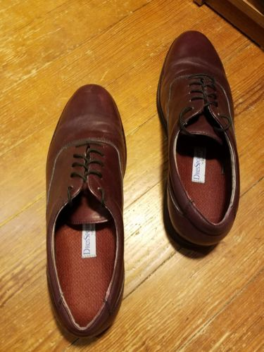 ROCKPORT MEN'S VIRBAM Dressports Dress shoes MAROON SIZE 11.5 Lace Up Oxford