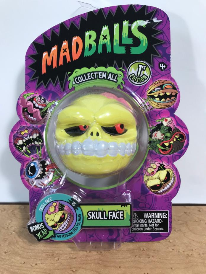 2016 Madballs Mad Balls American Greetings 1st Edition #04 Skull Face Series 1