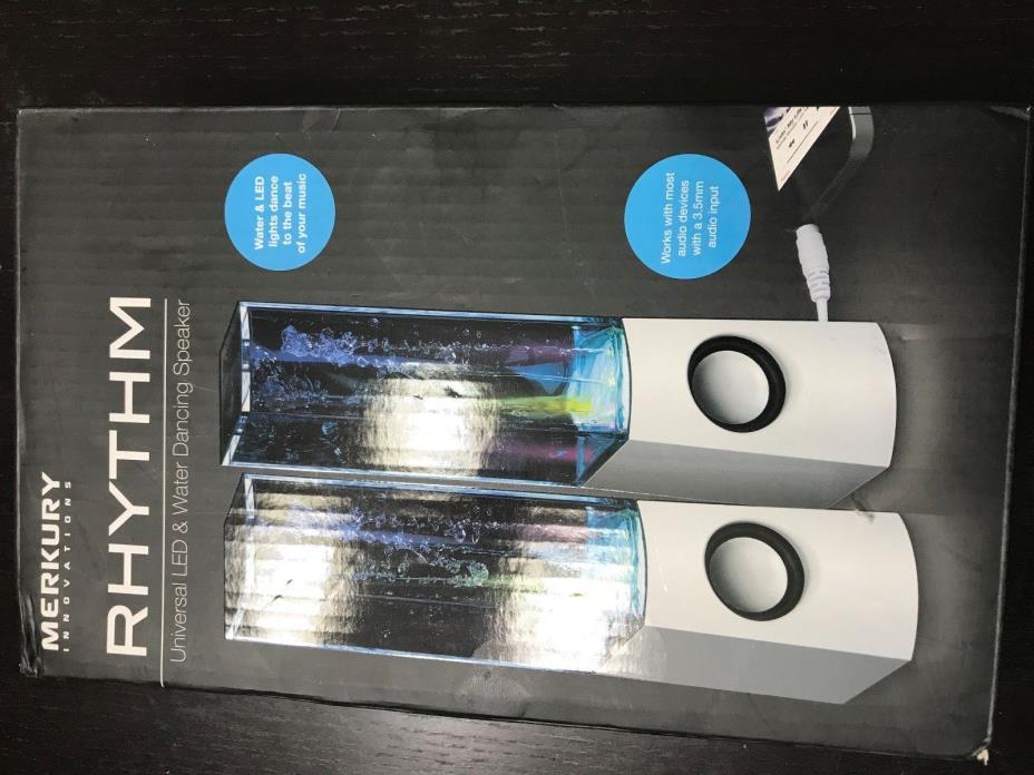 Merkury Innovations Rhythm Universal LED Water Dancing Stereo Speakers