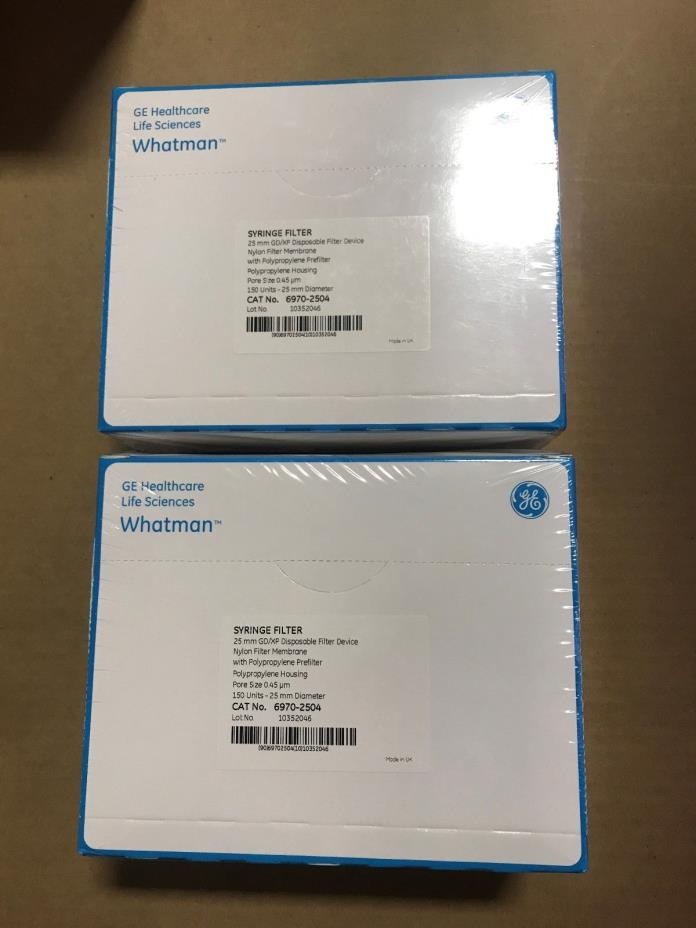 Whatman Syringe Filter GD/XP Nylon .45um Pore Size 25mm 1 Box of 150 Units