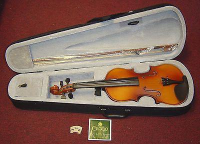 Cecilio Mendini 4/4 MV300 Solid Wood Satin Antique Violin W/Case