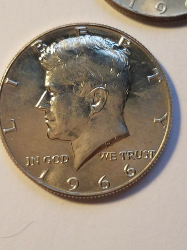 1966 Kennedy half dollar BU UNCIRCULATED FROM ROLL  (1 COIN)