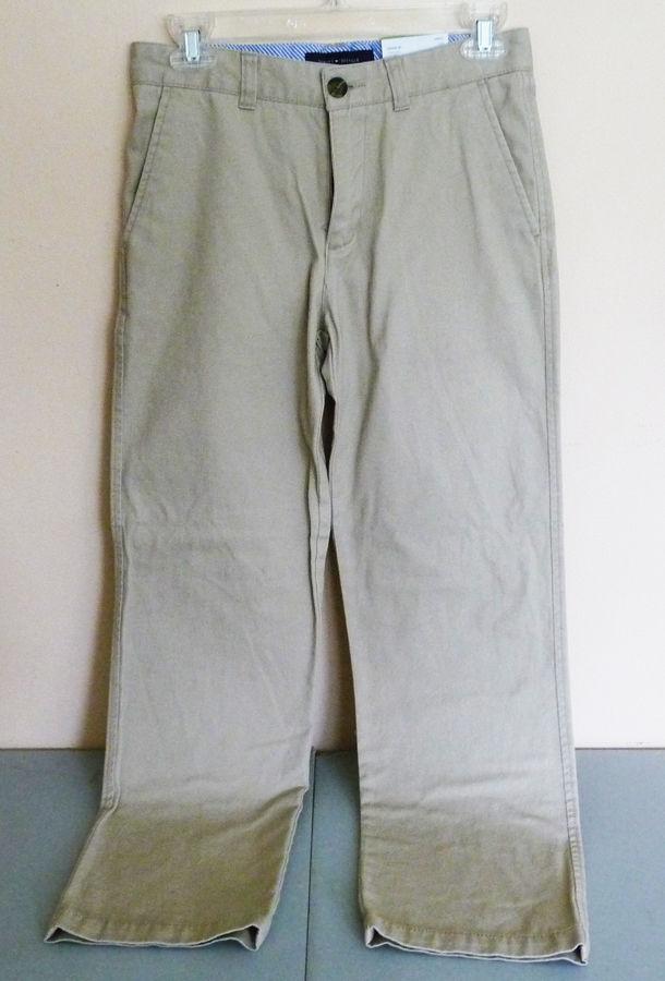 New Tommy Hilfiger BOYS PANTS School Uniform Khaki size 14