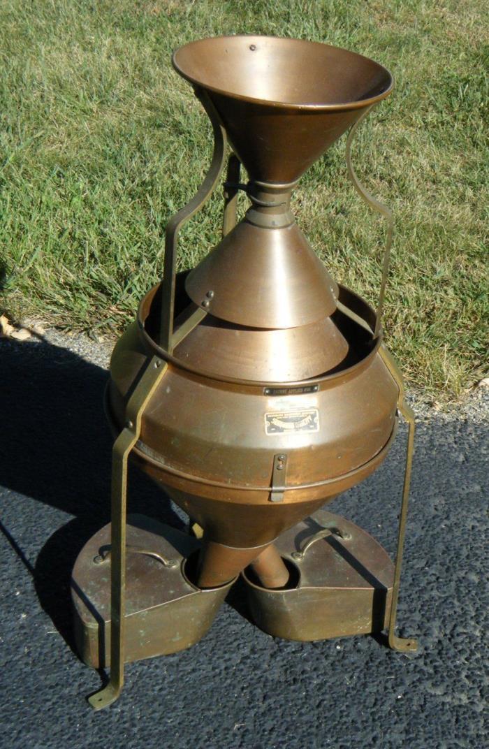 Rare Early Seedburo Equipment Co Farm Seed Cleaner Sorter Copper Brass