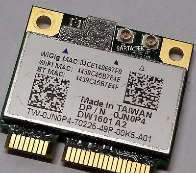 Dell Wireless DW1601 JN0P4 QCA9005 WiGig 802.11AD Bluetooth 4.0 PCIe Card