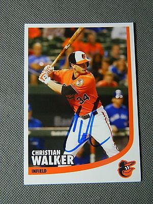 BALTIMORE ORIOLES Christian Walker AUTOGRAPHED SIGNED BASEBALL POSTCARD PHOTO