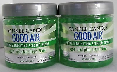 Yankee Candle Fragrance Spheres Odor Eliminating Beads Set 2 JUST PLAIN FRESH