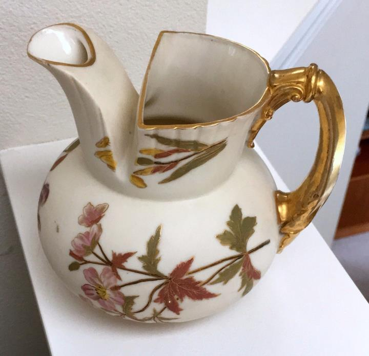 Unusual Form 1892 Blush Ivory Royal Worcester 5