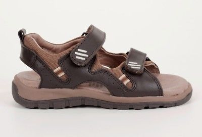 JUMPING JACKS Andy Boys 9 M (Toddler) Brown Leather Sandals, NIB, $49