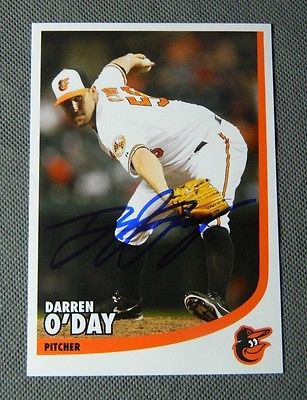 BALTIMORE ORIOLES Darren O'Day AUTOGRAPHED SIGNED BASEBALL POSTCARD PHOTO