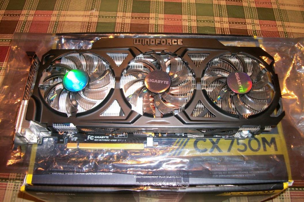 Gigabyte Geforce GTX 770 4GB GDDR5 Windforce 3X OC Version Graphics Card