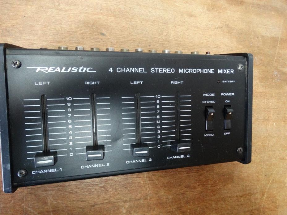 Realistic 32-1105 (4) Channel Stereo Microphone Mixer
