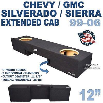 99-06 CHEVY SILVERADO & GMC SIERRA EXTENDED CAB SUB BOX ENCLOSURE GROUND-SHAKER