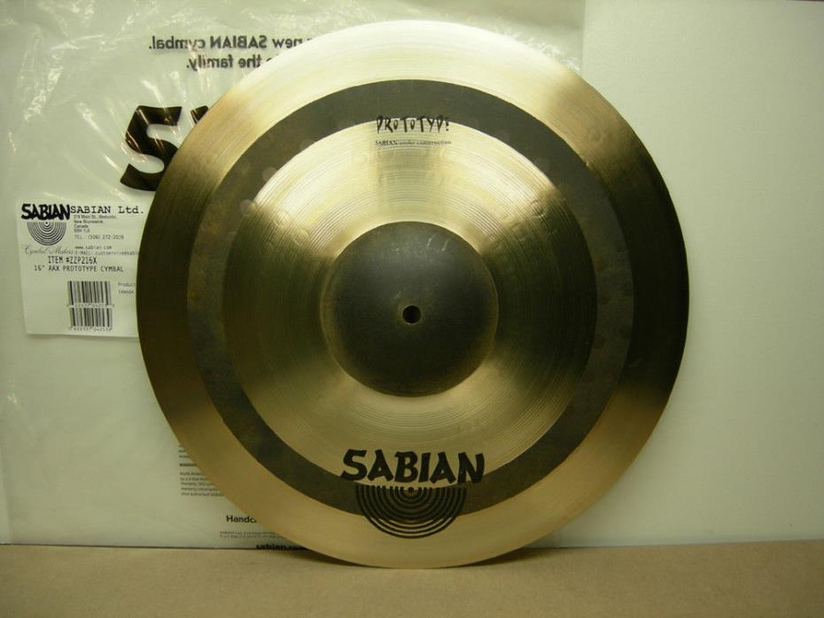 Sabian 16 AAX Prototype raw band bell crash MP3 Masters Tour 2017 aa hh hhx thin