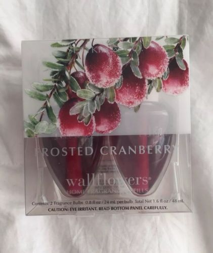 Bath & Body Works Frosted Cranberry Wallflower Fragrance Bulbs 2 Pack NEW