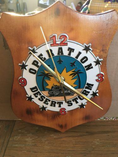 Desert Storm Wall Clock.