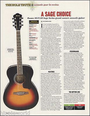 Ibanez SGT100 Sage Series Grand Concert Acoustic Guitar sound check review