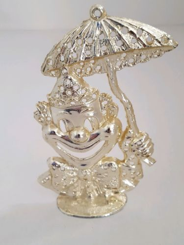 Vintage 70's Torino Clown with Umbrella Earring Holder
