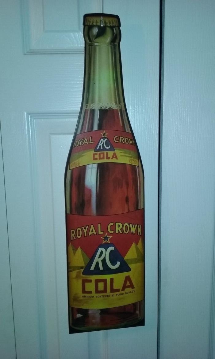 Vintage Repro. of 1940s RC Royal Crown Cola Cardboard Store Display Sign 24x6