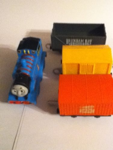 Lot Of 4 Plastic Thomas The Train Rail Cars Plastic Vguc Mattel Replacements