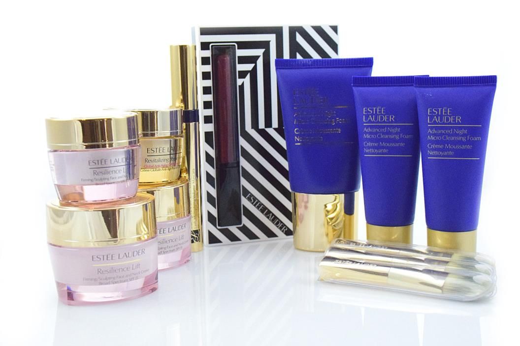 Estee Lauder Makeup and Product Kit with Resilience Lift, Revitalizing Supreme