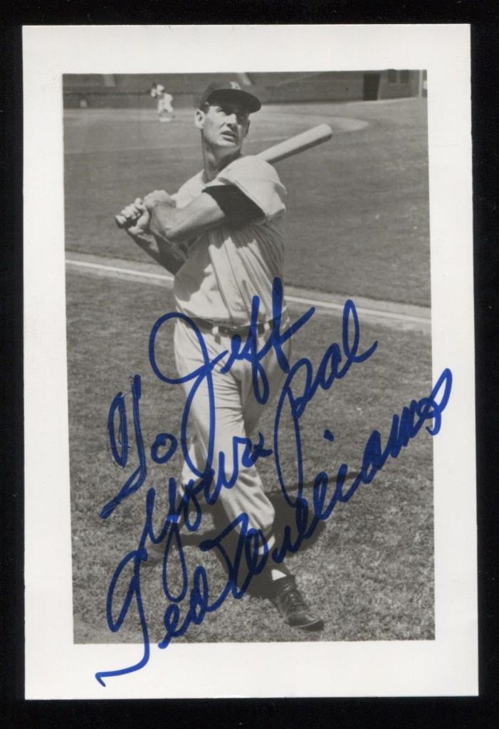 Ted Williams Vintage Signed Photo Inscribed