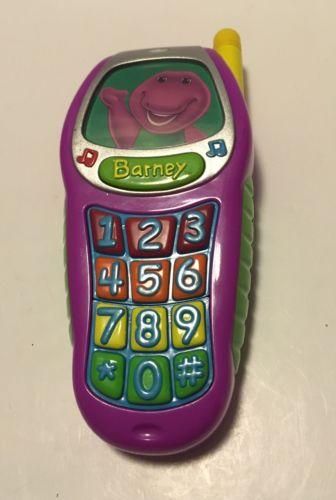 Mattel Barney the Dinosaur Toy Cell Phone 2002- RARE!!!!!