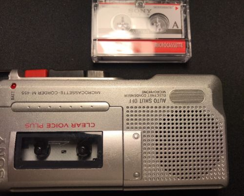 SONY Microcasstte Corder M-455 Voice Recoder Dictaphone Clear Voice **WORKS**
