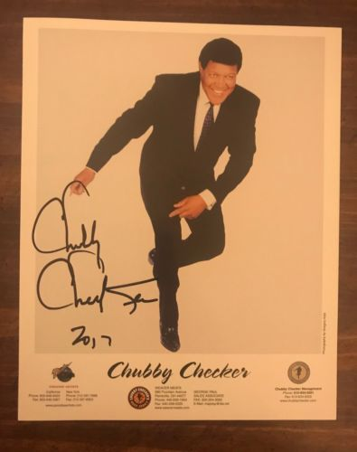 CHUBBY CHECKER AUTOGRAPHED SIGNED 8 x 10 PHOTO RARE
