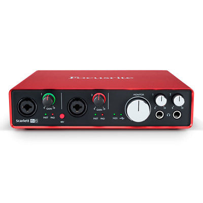 Focusrite Scarlett 6i6 6 In/6 Out USB 2.0 Audio Interface w/ Protools