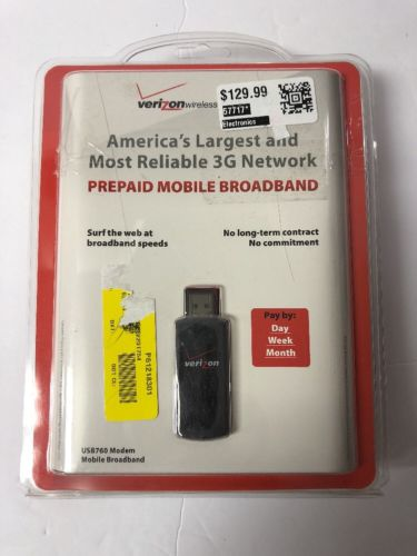 Verizon Wireless USB760 3G USB Mobile Broadband Aircard Modem 760 New